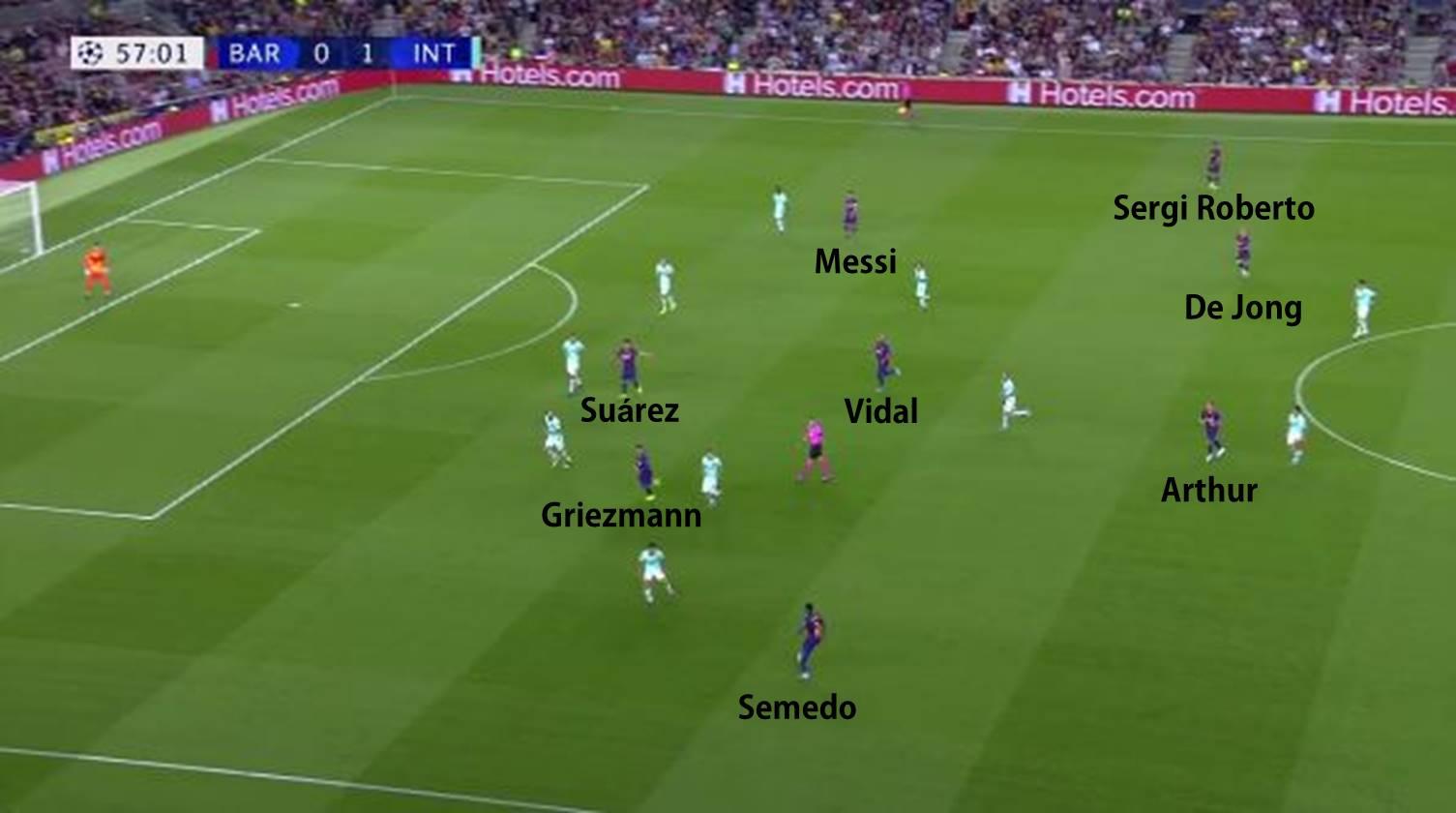 Posicionamiento con la entrada de Vidal